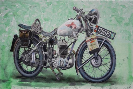 old Puch motorcycle