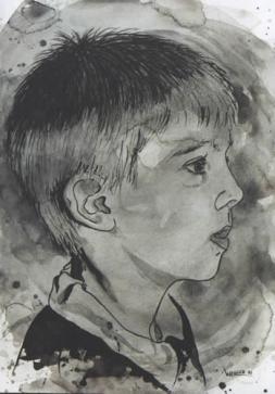 little boy 1997 16 x 28 cm aquarell on paper