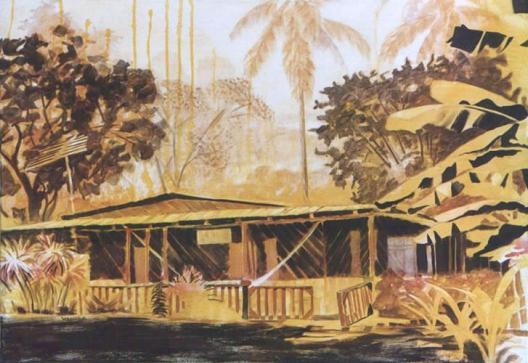 La Gamba/Costa Rica 2002 80 x 110 cm acryl on canvas