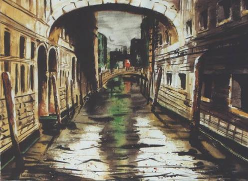 venice 2 /Italy 1998 50 x 70 cm mixed media on paper